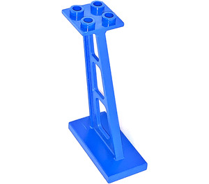 LEGO Blue Support 2 x 4 x 5 Stanchion Inclined with Thin Supports (4476)