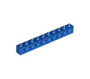 LEGO Blue Technic Brick 1 x 10 with Holes (2730)