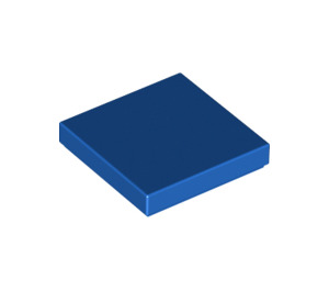 LEGO Blue Tile 2 x 2 with Groove (3068)