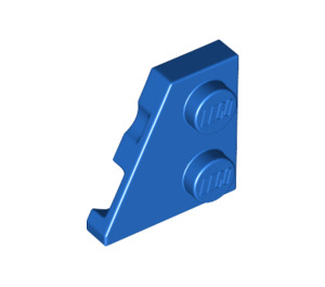 LEGO Blue Wedge Plate 2 x 2 (27°) Left (24299)