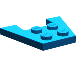 LEGO Blue Wedge Plate 3 x 4 without Stud Notches (4859)
