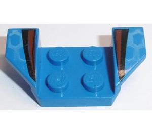 LEGO Blue Wheel Arch 2 x 4 with Black and Red Stripes