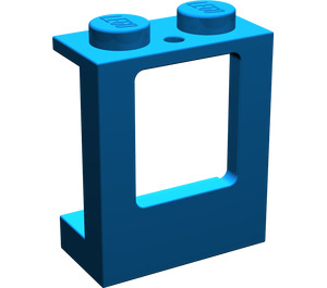 LEGO Blue Window 1 x 2 x 2 with 2 Holes in Bottom