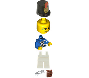 LEGO Bluecoat Soldier with Reddish Brown Backpack and Sweat Drops Minifigure