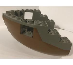 LEGO Boat Bow 12 x 12 x 5 & 1/3 Hull Inside Assembly (6051)