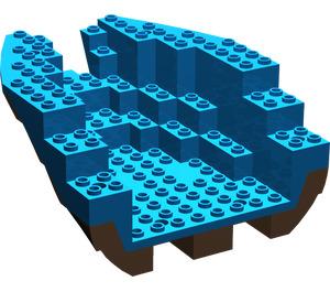 LEGO Boat Stern 12 x 14 x 5 & 1/3 Hull Inside Assembly (6053)