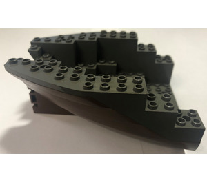 LEGO Boat Stern 12 x 14 x 5 & 1/3 Hull Inside Assembly (6053)