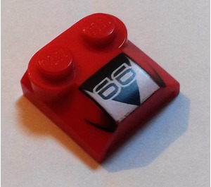 LEGO Bonnet 2 x 2 x 2/3 with Decoration without Curved End (41855)