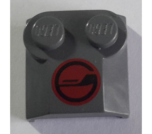 LEGO Bonnet 2 x 2 x 2/3 with Red circle with Black G logo without Curved End (41855)