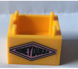 LEGO Box 2 x 2 Bottom with Honeydukes in Diamond Sticker (59121)