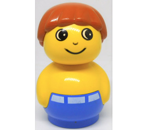 LEGO Boy with Blue Base with white belt Primo Figure