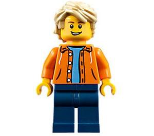 LEGO Boy with Orange Jacket Minifigure