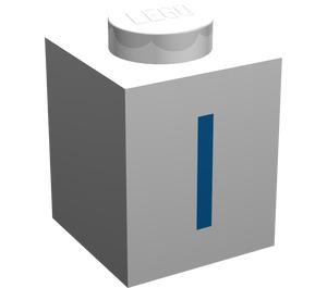 "LEGO Brick 1 x 1 with Blue ""I"" (3005)"