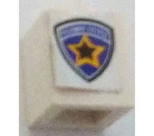 LEGO Brick 1 x 1 with Highway Patrol Logo Sticker from Sets 8665 / 6111 (3005)