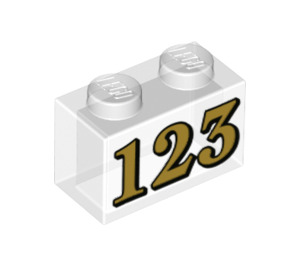 LEGO Brick 1 x 2 with '123' (3004 / 72218)