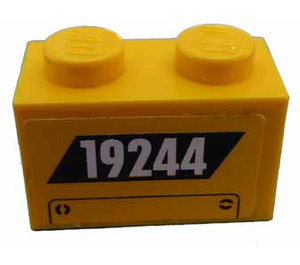 LEGO Brick 1 x 2 with '19244' Sticker (3004)