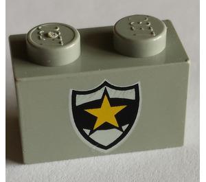 LEGO Brick 1 x 2 with Badge (3004)