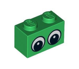 LEGO Brick 1 x 2 with black eyes (3004 / 14715)
