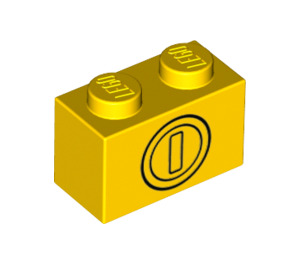 LEGO Brick 1 x 2 with Coin (3004 / 76891)