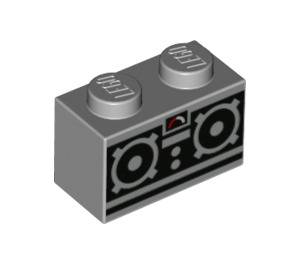 LEGO Brick 1 x 2 with Decoration (3004 / 39088)