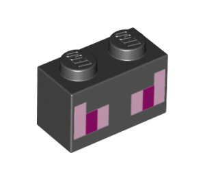 LEGO Brick 1 x 2 with Ender Dragon Eyes (3004 / 19181)