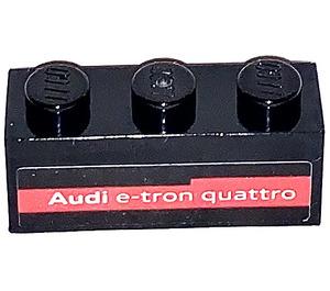 LEGO Brick 1 x 3 with Audi e-tron quattro Sticker (3622)