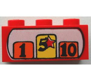 LEGO Brick 1 x 3 with Decoration (3622)
