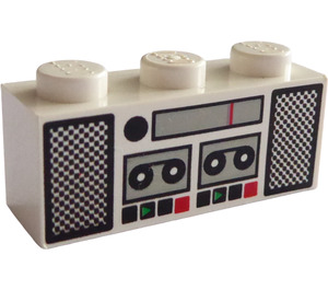 LEGO Brick 1 x 3 with Double Tape Deck and Radio Decoration (3622)
