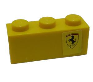 LEGO Brick 1 x 3 with Ferrari Logo Pattern Right Side Model Sticker (3622)