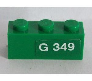 LEGO Brick 1 x 3 with 'G 349' (Right) Sticker (3622)
