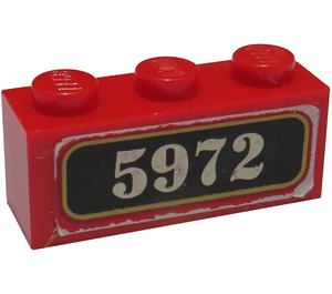 LEGO Brick 1 x 3 with Hogwarts Express 5972 Sticker (3622)