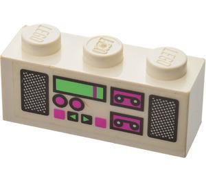 LEGO Brick 1 x 3 with Radio Cassette Player Sticker (3622)