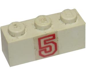 LEGO Brick 1 x 3 with Sticker from Set 6440 (3622)