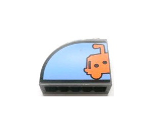 LEGO Brick 1 x 3 x 2 Curved Top with Sticker from Set 3830 (33243)