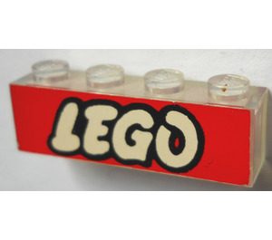 LEGO Brick 1 x 4 without Bottom Tubes with Lego Logo Open 'O' (3066)