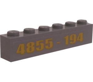 """LEGO Brick 1 x 6 with """"4855-194"""" Sticker (3009)"""