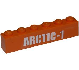 LEGO Brick 1 x 6 with 'ARCTIC-1' Sticker (3009)