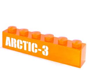 LEGO Brick 1 x 6 with 'ARCTIC-3' Sticker (3009)