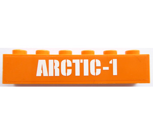 LEGO Brick 1 x 6 with 'ARCYIC-1' Sticker (3009)