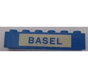 "LEGO Brick 1 x 6 with ""BASEL"" (3009)"