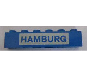 "LEGO Brick 1 x 6 with ""HAMBURG"" (3009)"