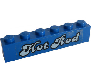 LEGO Brick 1 x 6 with 'Hot Rod' Sticker (3009)