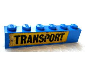"""LEGO Brick 1 x 6 with """"TRANSPORT"""" Sticker (3009)"""
