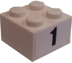 LEGO Brick 2 x 2 with 1 Sticker (3003)