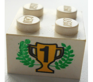 LEGO Brick 2 x 2 with 1st Place Trophy and Laurels (3003)