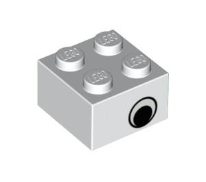 LEGO Brick 2 x 2 with Black Eye on Both Sides (3003 / 81508)