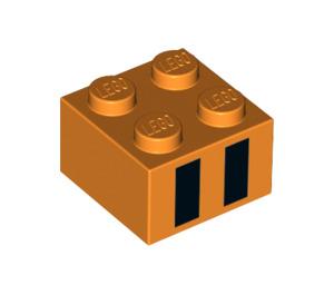 LEGO Brick 2 x 2 with Black Stripes (99183)