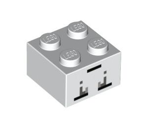 LEGO Brick 2 x 2 with Blocky Eyes with Tears Minecraft Printing (3003 / 17062)