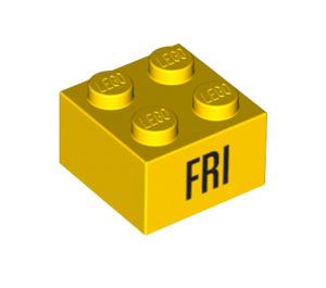 LEGO Brick 2 x 2 with Decoration (14804 / 97632)