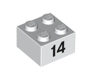 LEGO Brick 2 x 2 with Decoration (14873 / 97652)